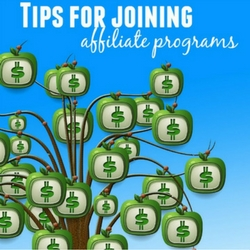 tips for joining affiliate programs