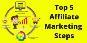 top 5 affiliate marketing steps