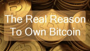 The Real Reason To Own Bitcoin